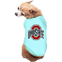 CoCe Dog's Ohio State Buckeyes Logo Brutus Buckeye Dog Clothes Fleece L SkyBlue