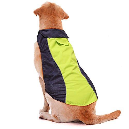 Ezer-High Visibility Dog Coat- Safety Waterproof Dog Jacket for Cold Weather (L)