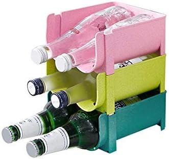 ★ 【Conveniente estante para vinos】 : Este estante para vinos puede almacenar 2 botellas de bebidas e