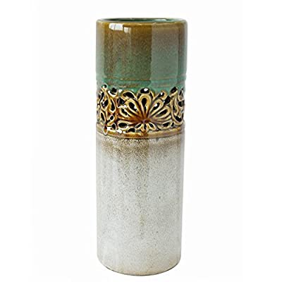 "Hosley's 12"" High Ceramic Decorative Vase"