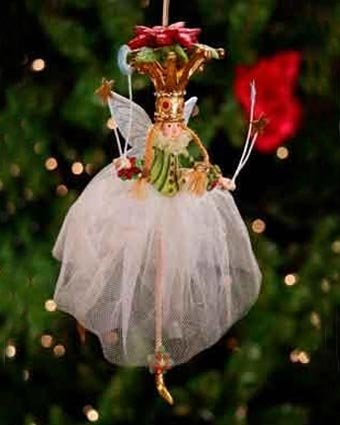 Krinkles Poinsettia - Patience Brewster Poinsettia Princess Ornament - Krinkles Christmas Décor New 08-30627