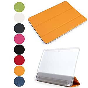 LQZ? Ultra Thin Magnetic Smart Stand Case Cover for Samsung Galaxy Tab 4 8.0 Tablet SM-T330 / T331 / T335 with Auto Sleep / Wake Feature - Orange