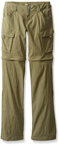 prAna Women's Sage Convertible Tall Inseam Pants, Cargo Green, Size 8