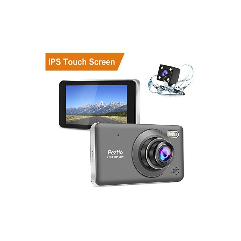 Dual Dash Cam Front and Rear, 1080p HD C