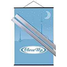 "POSTER HANGERS TRANSPARENT 100CM (39.5"") (ONE PAIR)"