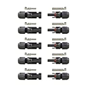 HQST Male/Female Solar Panel Cable Connectors (5 Pairs)