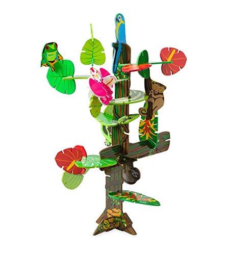 Rainforest Habitat Connectagons 168 Piece Wooden 3D Interlocking Toys Building Play - Village Port Bridge
