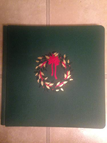 Creative Memories Christmas Holly 12 X 12 Inch Album with 15 Pages - Burgundy Red