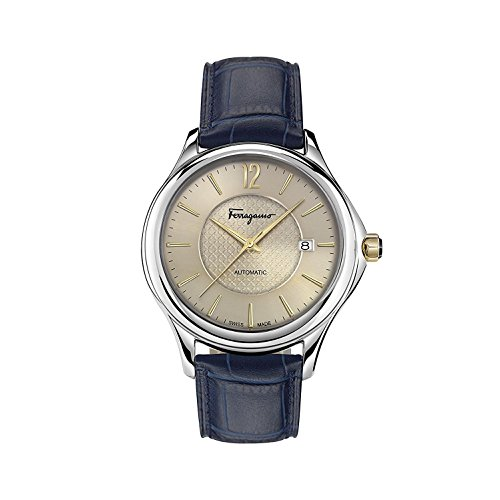 Salvatore Ferragamo Men's 'Time Automatic' Swiss Made Automatic Stainless Steel and Leather Watch (Model: FFT010016) from Salvatore Ferragamo