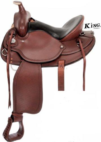 Kingドラフトサドル 16.5 ブラウン B002ILHSKE