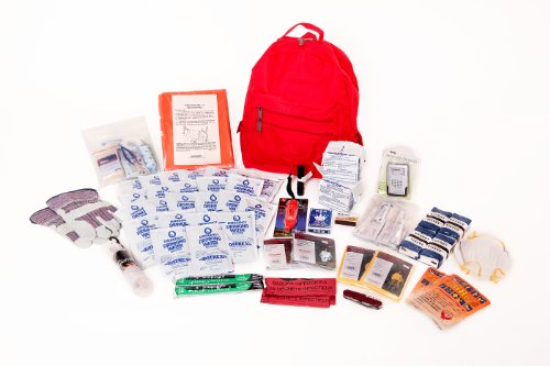 Deluxe 2-Person Survival Kit for Emergency Disaster Preparedness for Earthquake, Hurricane, Fire, Evacuations, Auto, Home and Family