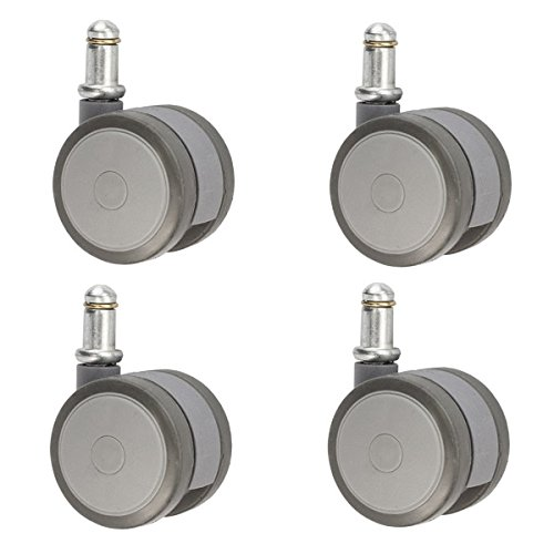 "2"" (50mm) Gray Softech Office Chair Casters Non-Marking H..."