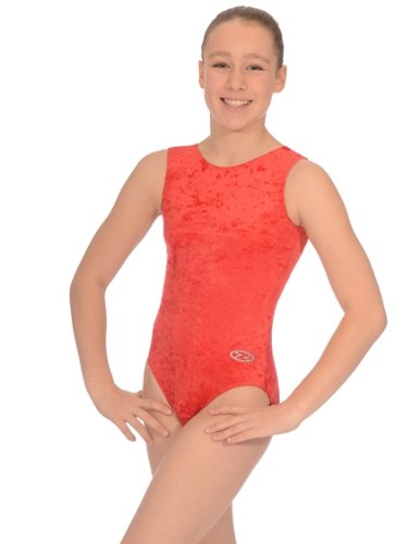 The Zone Z103SAL Sleeveless gymnastics leotard, Crushed Velour