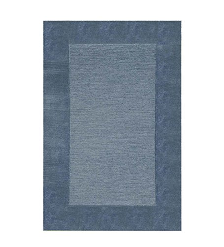 2' x 4' Madrid Banded Rectangular Hearth Rug (Hearth Color Rugs Solid)