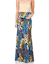 83b5997df4efe Women's High Waisted Floor Length Maternity Maxi Skirt with Tummy  Control(Made in USA)