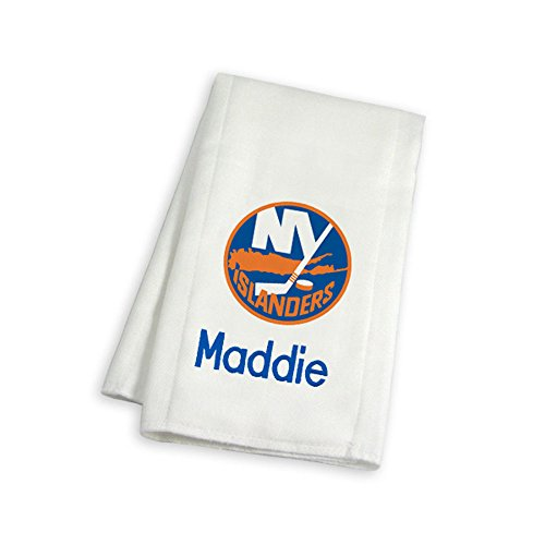 Designs by Chad and Jake Baby Personalized New York Islanders Small Gift Basket One Size White