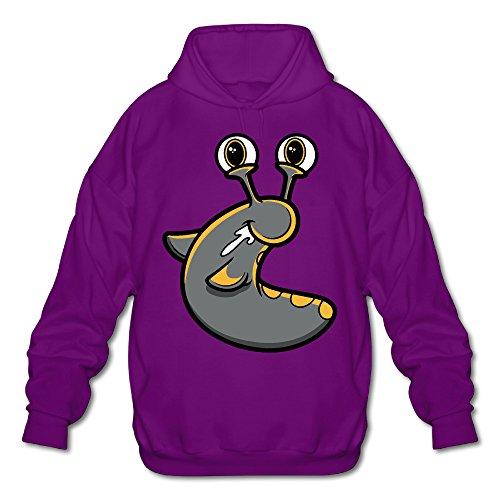 Youtube Slogoman Hoody Pullover Sweatshirt Men Shirt Purple X-Big