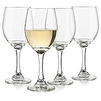 Cristales de vino blanco clásico Libbey, juego de 4