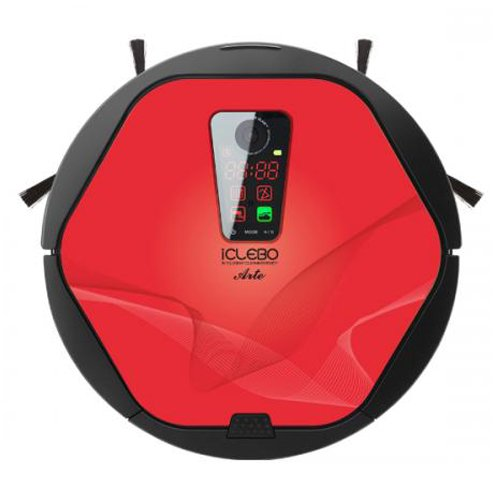 iClebo Arte YCR-M05-50 Floor Mapping Smart Robotic Robot Vacuum Cleaning Cleaner for Home / Office (Color Red)