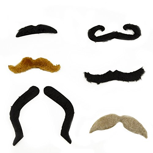 Adorox Novelty Mustache Cowboy Pirate Magician Disguise Set Halloween Costume (Halloween Costumes Cowboy)