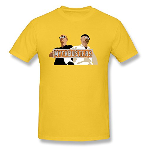 Men's Funny Mythbusters TV Show Tee S Yellow