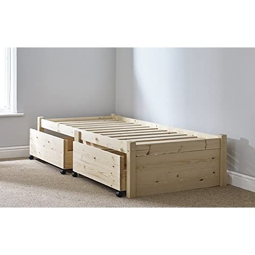 Solid Single Bed Frame with Drawers: Amazon.co.uk