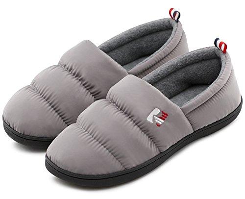 - RockDove Men's Closed Back Down Camper Memory Foam Indoor Outdoor Slipper, Size 9-10 US Men, Cloud Gray