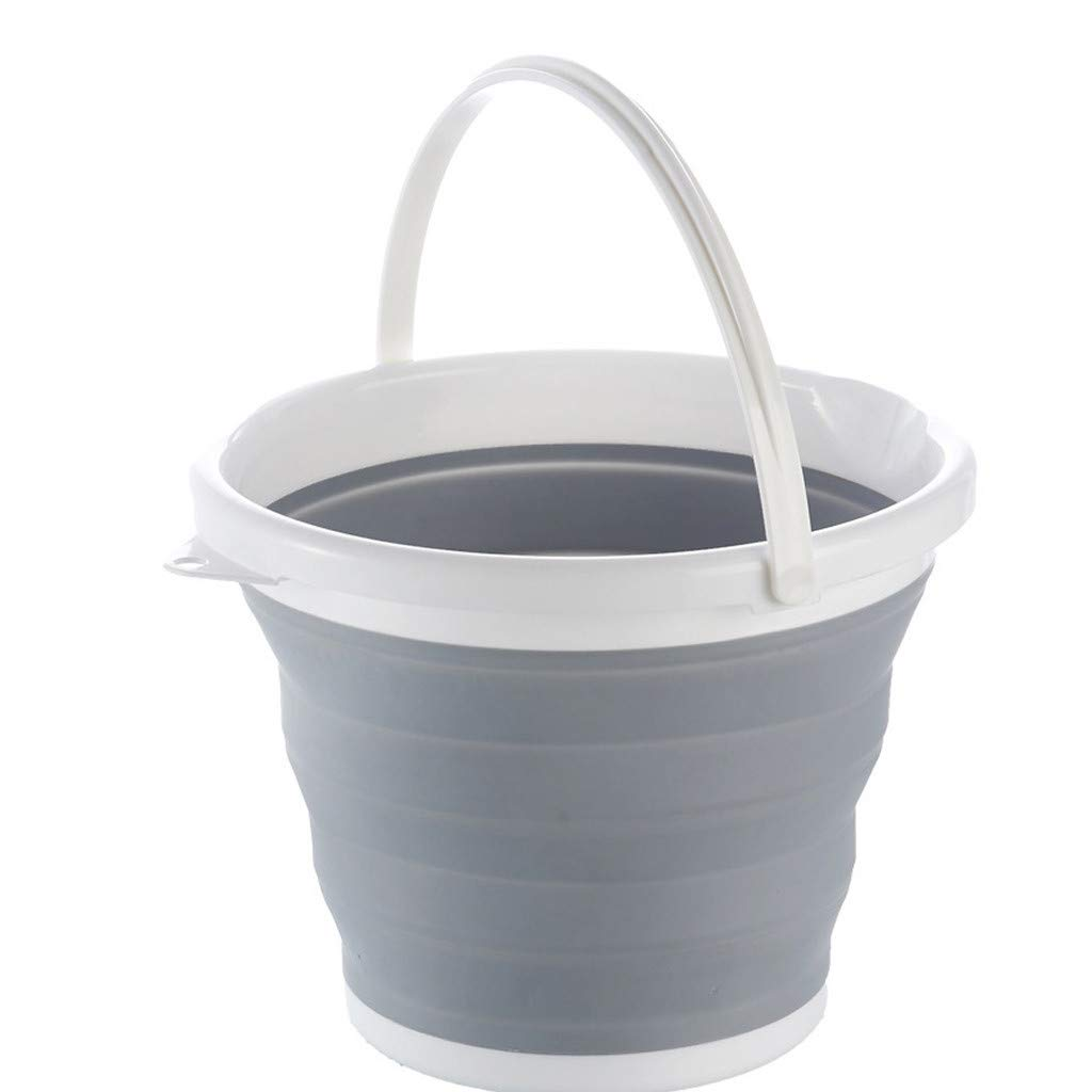 BBT-Shop 10L Collapsible Silicone Bucket, Folding Travel Barrel for Camping Hiking Travel Office Homes, Camping, Traveling, Pets, Hiking, Backpacking Bowl Space-Saving by BBTshop