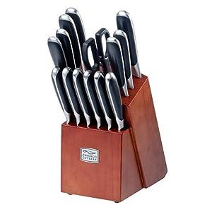 Premium Chicago Cutlery 15 Piece Belden Stainless Steel Knives Block Set