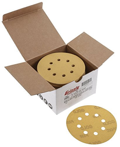 Grizzly H6693 5-Inch Sanding Disc, A320-C Hand Length 8 H...