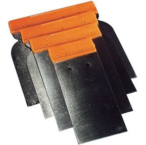 AES Industries 4pc Metal Spreader Set for Body Filler and Glaze Application
