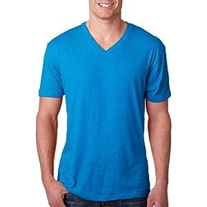 Next Level Apparel 6040 Mens Tri-Blend V-Neck Tee - Vintage Turquoise, Large