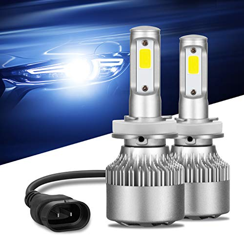 LED Headlight Bulbs,Snorda Headlights All-in-One High/Low Beam/Fog Light Bulb,IP68 8000LM 6000K Cool White-2 Yr Warranty (H4(9003 HB2))