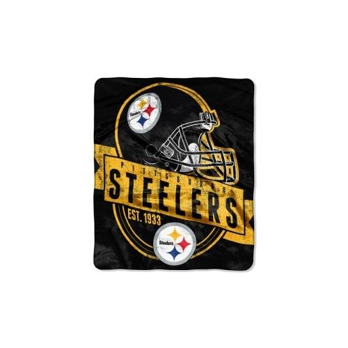 (The Northwest Company Officially Licensed NFL Pittsburgh Steelers Grand Stand Plush Raschel Throw Blanket, 50