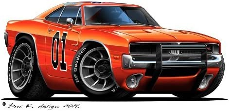 Amazon Com 12 Dukes Of Hazzard General Lee 1969 Dodge Charger Car Wall Graphic Sticker Decal Home Kids Room Man Cave Garage Decor Home Kitchen