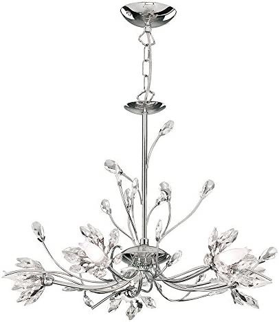 Hibiscus 5 Light Crystal Chandelier Finish: Chrome