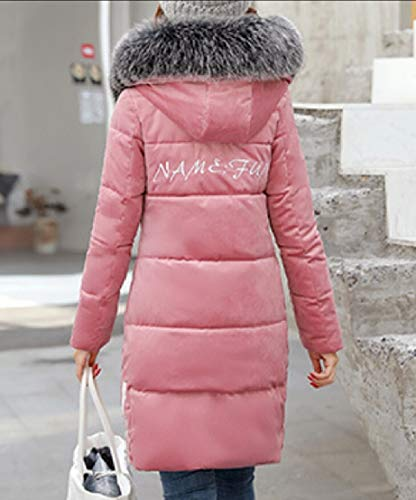 Cappotti Cappuccio Da Warm Ttyllmao Donna Rosa Lunghi wqzAwCR4