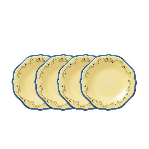 (Pfaltzgraff Pistoulet Salad Plate with Blue Band (9-Inch, Set of)