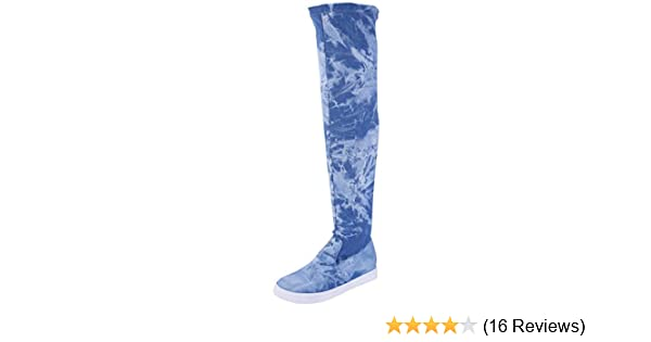 8459a14259353 Glaze. Stylish Women's Trendy Lounge Suede High Over-The-Knee Chic Sneaker  Boots Zip Closure with Shop Aegis Foot Anklet