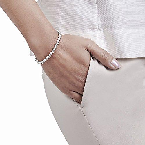 ANNIE HAAK Perle 4mm Sienne Argent Bracelet en Delicate empilables design, à la main en argent 925