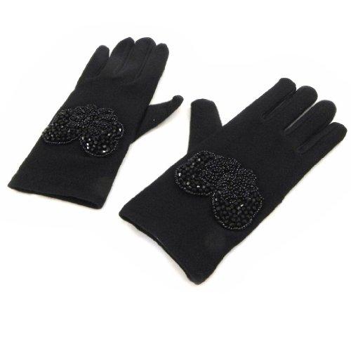 フォーマットミスペンド劇作家[リリーの宝 (Les Tresors De Lily)] (Clothilde コレクション) [I1873] 手袋 ブラック