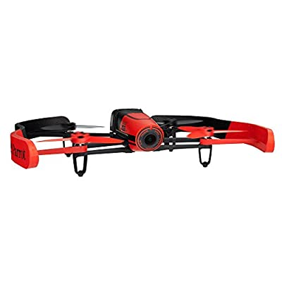 Parrot Bebop Drone 1400 megapixel quad Copter with a fish-eye lens camera (Red) by Parrot