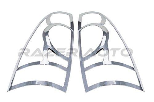 - Razer Auto Triple Chrome Plated Taillight Trim Bezels Cover for 05-15 Toyota Tacoma