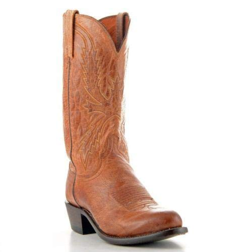 Lucchese Since 1883 Men's N1547-74,Tan Burnished Mad Dog Goat,US 12 D