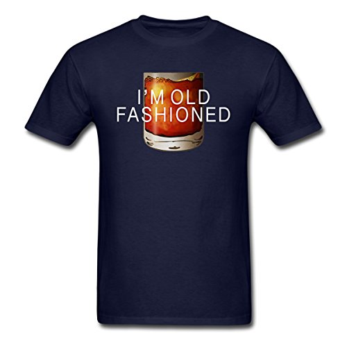 Spreadshirt I'm Old Fashioned Whiskey Cocktail Men's T-Shirt, 3XL, Navy