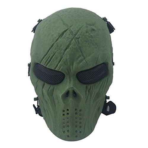 Coofit ® Ghost Skull Airsoft Paintball Maske militärische Vollschutz Halloween-Kostüm