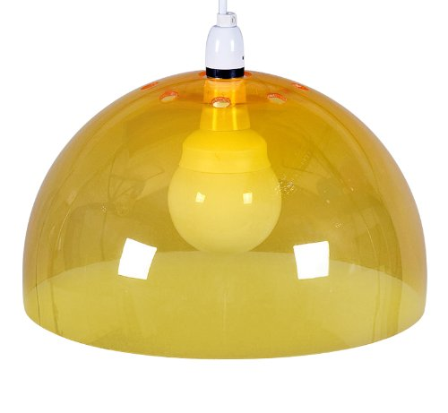 Low energy yellow acrylic dome ceiling pendant light shade bulb low energy yellow acrylic dome ceiling pendant light shade bulb supplied aloadofball Choice Image