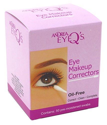 Andrea Eye Qs Eye Make-Up Correctors Swabs 50 Count (2 Pack)