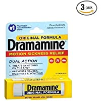 Dramamine Motion Sickness Relief 12-Count (Pack Of 3)
