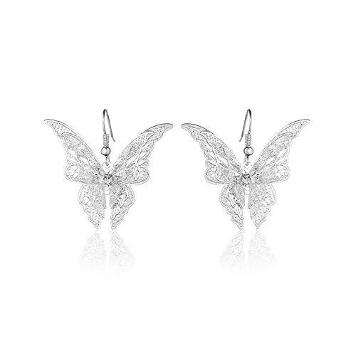 J Meng Butterfly Earrings for Women Butterfly Stud Earrings Earrings for Women Butterfly Earrings for Girls Dangle Drop Earrings